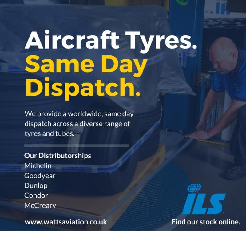 aircraft tyres same day dispatch