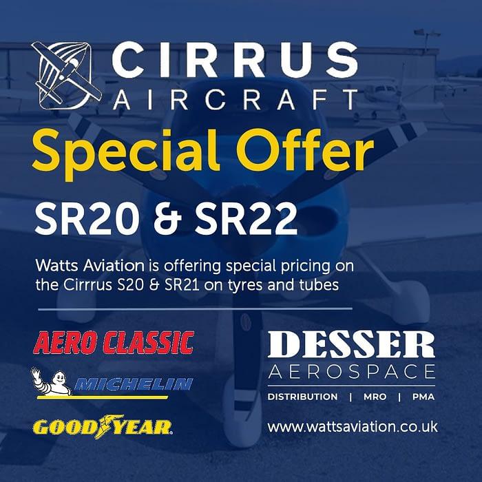 cirrus SR20 22 tyres tubes