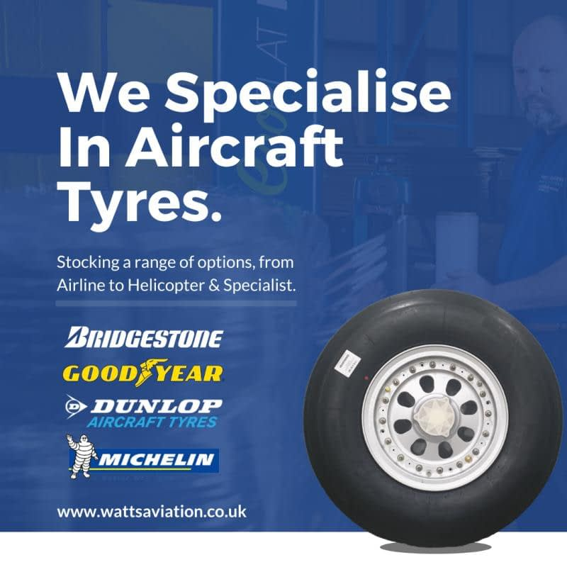we specialise in aircraft tyres