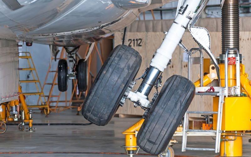 aircraft tyres hangar facilities airplane mro maintenance repair workshop inspection