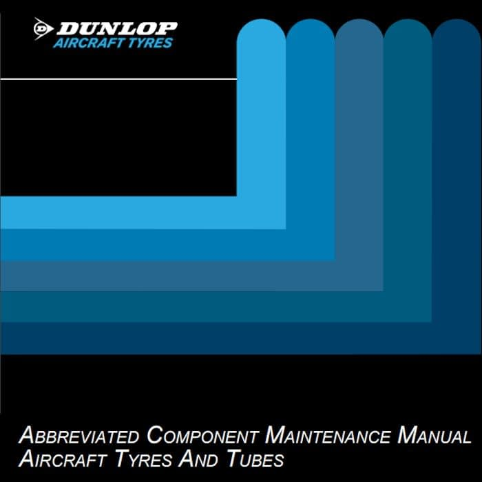 dunlop aircraft tyre care maintenance manual data book datasheet tire size specifications pdf